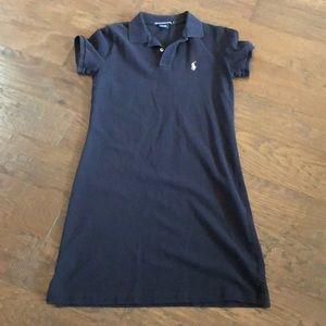 Women's navy polo dress